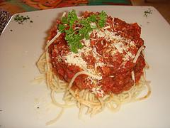 Salsa boloñesa sin carne