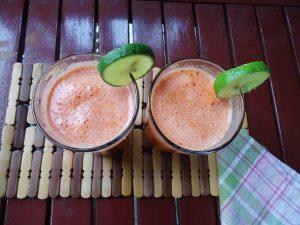 zumo de zanahoria, naranja, remolacha