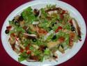 Ensalada anti colesterol de pollo y frutos rojos