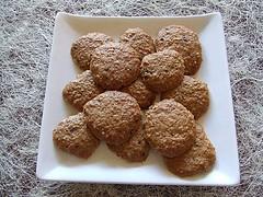 Receta de galletas de avena