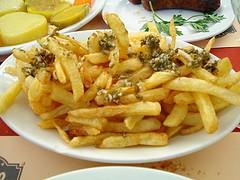 Patatas fritas bajas en colesterol