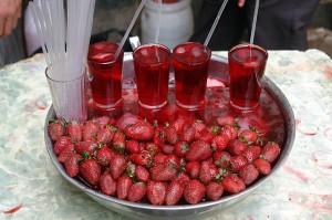 zumo de frutillas
